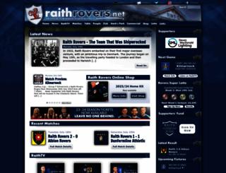 raithrovers.net screenshot