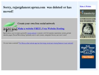 rajargdancer.spruz.com screenshot