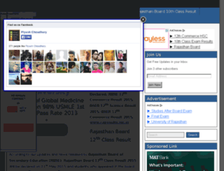 rajasthanboardexamresult.in screenshot