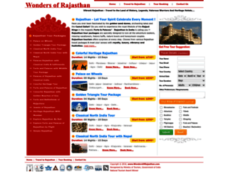 rajasthantours.wondersofrajasthan.com screenshot