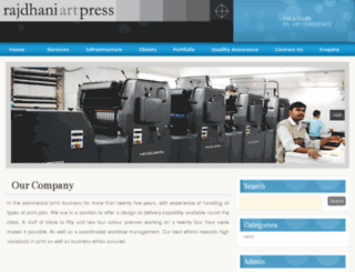 rajdhaniartpress.com screenshot