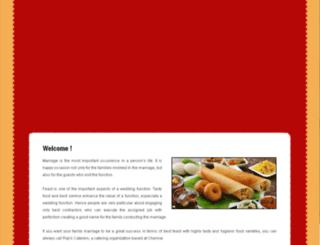 rajiscaterers.com screenshot