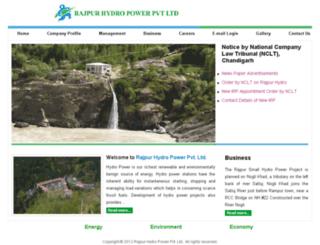 rajpurhydro.com screenshot