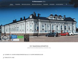 rakennuspartio.fi screenshot