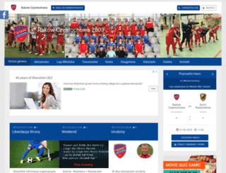 rakowczestochowa2003.futbolowo.pl screenshot