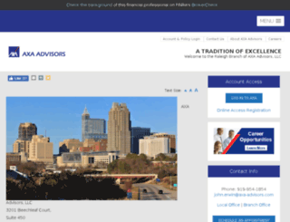 raleigh.axa-advisors.com screenshot