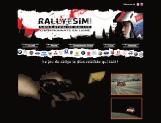 rallyesim.com screenshot