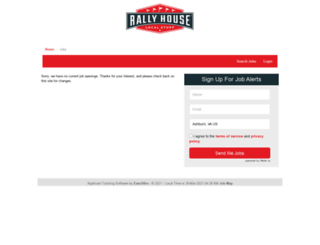 rallyhouse.hirecentric.com screenshot