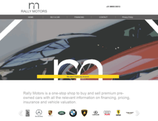 rallymotors.co.in screenshot