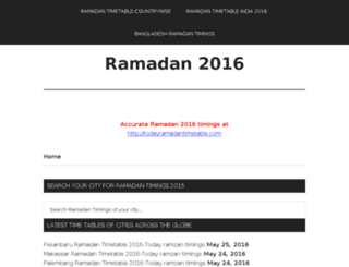 ramadantimetable2014.com screenshot