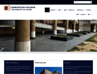 ramanujancollege.ac.in screenshot