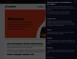 ramblers.org.uk screenshot