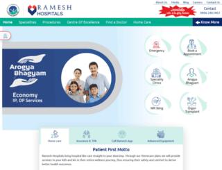 rameshhospitals.com screenshot