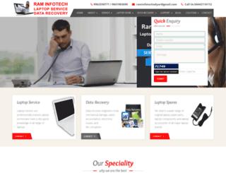 raminfotechlaptopservice.com screenshot