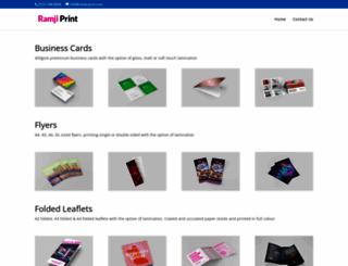 ramji-print.com screenshot
