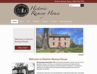 ramseyhouse.org screenshot