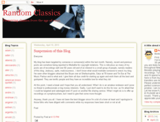 randomclassics.blogspot.com.au screenshot