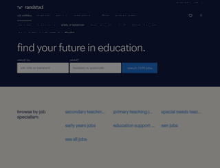 randstadeducation.co.uk screenshot