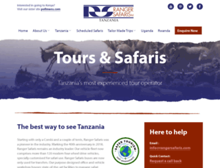 rangersafaris.com screenshot