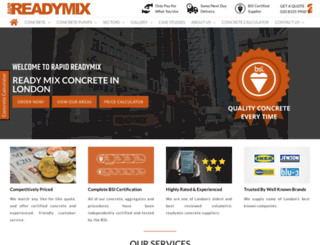 rapidreadymix.co.uk screenshot