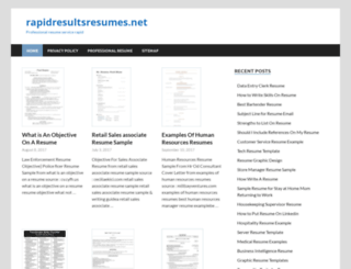 rapidresultsresumes.net screenshot