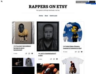 rappersonetsy.tumblr.com screenshot