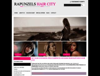 rapunzelshaircity.co.uk screenshot