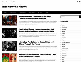 rarehistoricalphotos.com screenshot