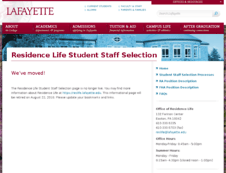 rastaffselection.lafayette.edu screenshot