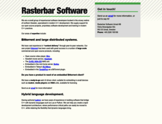 rasterbar.com screenshot