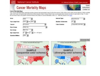 ratecalc.cancer.gov screenshot
