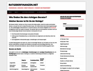 ratgeberfinanzen.net screenshot