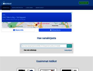 ratkojat.fi screenshot
