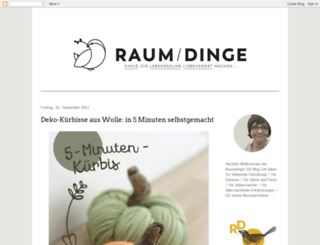 raumdinge.blogspot.com screenshot