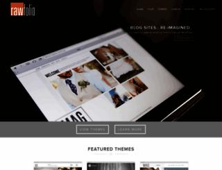 rawfolio.com screenshot