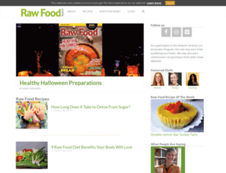 rawfoodmagazine.com screenshot