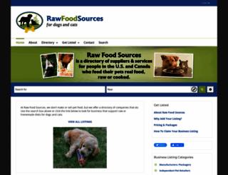 rawfoodsources.com screenshot