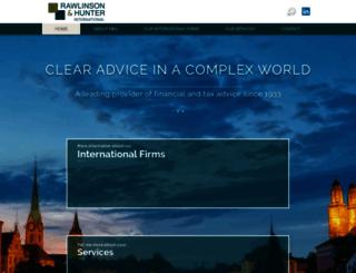 rawlinson-hunter.com screenshot