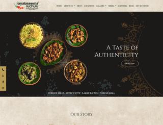 rayalaseemaruchulu.com screenshot