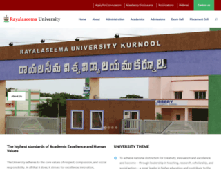 rayalaseemauniversity.ac.in screenshot