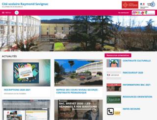 raymond-savignac.entmip.fr screenshot
