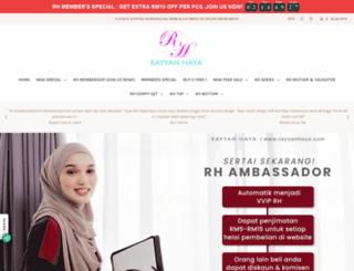 rayyanhaya.myshopify.com screenshot