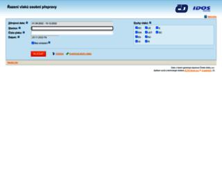 razeni.idos.cz screenshot