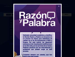 razonypalabra.org.mx screenshot