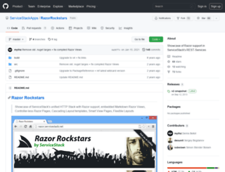 razor.servicestack.net screenshot