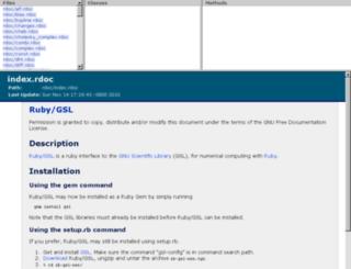 rb-gsl.rubyforge.org screenshot
