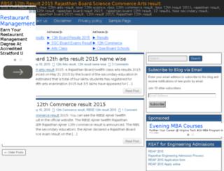 rbse12thresult2015.in screenshot