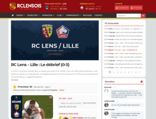 rclensois.fr screenshot