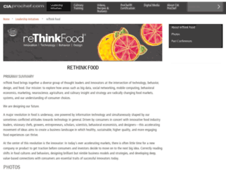 re-thinkfood.org screenshot
