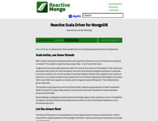 reactivemongo.org screenshot